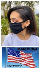 Set Of 3 Fabric Face  Mask Soft Facial Cover Handmade Black USA Seller