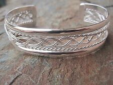 Sterling Silver Overlay Bracelet Made by Artesanas Campesinas in Mexico 011 NEW