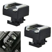 2PCS Advanced Hot Shoe to Universal Shoe Adapter for Canon VIXIA HF 200 S100 M30