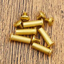 5x15mm Brass Fillister Hexagon Head Bolt Screw Pins Knife Handle Repair Tool