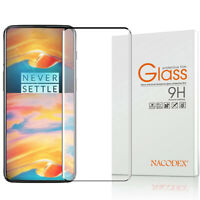 Nacodex For OnePlus 7 Pro 3D Full Cover Tempered Glass Screen Protector -Black