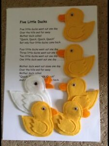 Finger Puppets Handmade, 5 Little Ducks, Educational Numbers, Counting, Fun