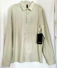 Lululemon Masons Peak Long Sleeve Shirt Size Large Heather Muslin HMUS $118 NWT