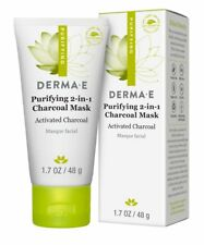Derma E Purifying 2-in-1 Charcoal Mask **2 PACK** NIB, EXP 3/2020