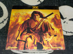 The Last of the Mohicans Widescreen Laserdisc LD Daniel Day Lewis Free Ship $30
