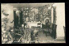 1930's RPPC Rock Garden Interior of Brainerd Hotel Brainerd MN B3267