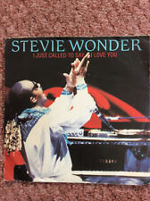 "STEVIE WONDER 1984 I JUST CALLED TO SAY I LOVE U 45rpm 7"" SINGLE RECORD JUKEBOX"