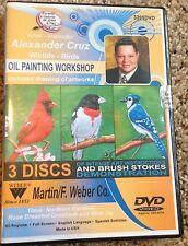 Alexander Cruz Oil Painting Workshop 3 Wildlife - Birds Dvd Martin F. Weber New