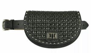 NWT Steve Madden Woven Belt Bag Black Weave Fanny Pack