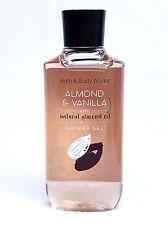 1 Bath & Body Works ALMOND & VANILLA w/ Natural Almond Oil Body Wash Shower Gel