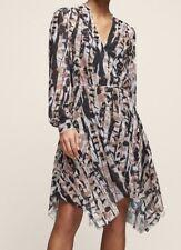 MAINE Printed HandKERCHIEF-Hem Dress Multi UK8/EU36 Reiss 100% Pol