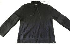 Satva High Neck Cleo Crop Top Long Sleeve / Black / Small / T2