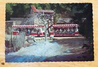Vintage 1971 Universal Studios Flash Flood Tram Postcard USA