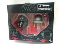 Star Wars Titanium Helmets Imperial Death Trooper Rebel Commando Black Series #6