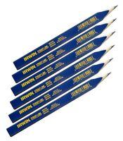 IRWIN 66400 STRAIT-LINE CARPENTER'S PENCIL - 6 PACK MEDIUM LEAD