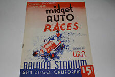 Midget Auto Races Program, San Diego Balboa Stadium, July 30 1947, Original