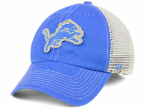 Detroit Lions NFL Canyon Mesh Clean Up Snapback Football Cap Hat Honolulu Blue D