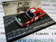 voiture 1/43 IXO altaya Rallye Maroc 1972 : Lancia Fulvia coupé 1.6 HF n°119