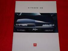 Citroen XM Limousine + BREAK 2.0 turbo C.T. v6 v6.24v turbo d12 folleto 1995