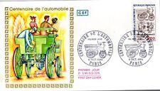 2341+ FDC ENVELOPPE  1er JOUR  CEF  CENTENAIRE  DE  L' AUTOMOBILE