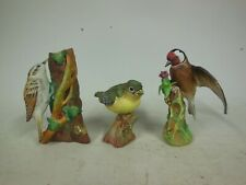Crown Staffordshire Linley Adams Bird Figurine Greenfinch Tree Creeper Goldfinch