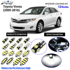 12 Bulb LED Interior Dome Light Kit 6000K Xenon White For 2009-2016 Toyota Venza