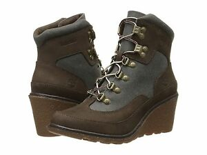 Women's Timberland Amston Hiker Boots, Dark Brown Nubuck w/ A14RU 242 Sizes 6-11