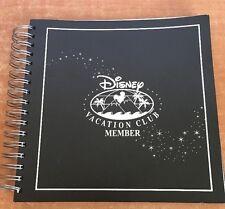 Disney Vacation Club Member Binder Book Album Black 15 Pages Collectible RARE