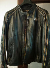 Harley Davidson Women's 110th Anniversary Black Leather Jacket L *BRAND NEW