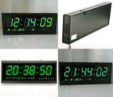 Digital Large Big  LED Wall Desk Clock Calendar Temperature  bright light sale u
