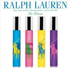 SET OF 4 RALPH LAUREN BIG PONY FOR WOMEN EAU DE PARFUM .34oz/10mL ROLLERBALL