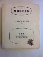 Austin 152 Service Parts List Dated April 1957 Outstanding Condition