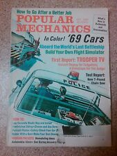 Old vintage 1968 Popular Mechanics Magazine trooper tv 7lb chainsaw '69 cars how