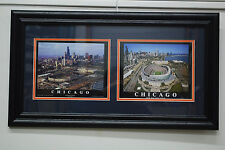 Chicago Bears NFL  OLD AND NEW STADIUM DOUBLE IMAGE FRAMED