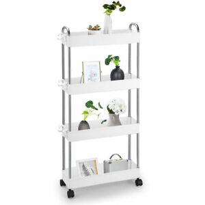 Küche Rollwagen Regal mit Rollen Küchenrollwagen Nieschenwagen BadKüchenwagen DE