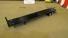 SPECCAST BLACK TANDEM AXLE FLAT BED FLATBED TRAILER WITH HEAD BOARD 1:64/ MTB