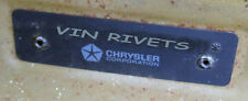 THREE PAIRS NOS Mopar Dodge Plymouth 67-76 Dash Rosette VIN Rivets
