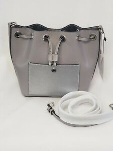 ~Beautiful~ Michael Kors Pear Grey Greenwich Bucket Bag Small