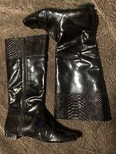 Coach 7 1/2 Black Patent LeatherFlat Boots