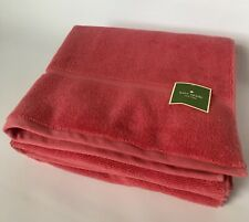 "Kate Spade Set Of 2 Paprika Red Pink Bath Towels 30""x 55"" New"