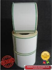 60x80 Direct Thermal Scale Labels 2100 Labels - Plain White with Green Border