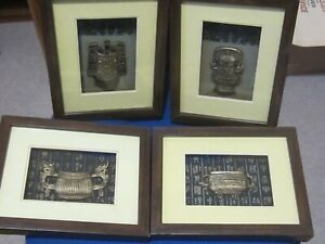 4 -3D Boxed Pictures of Oriental Temple Decorations