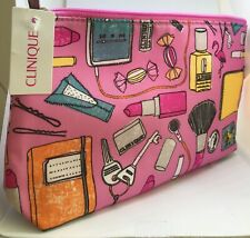 Clinique multi colour and patterned makeup bag New