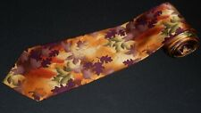 J Gacia Tie Tree Coll 43 Limited Edition Fall Leaves Leaf Abstract 100% Silk NEW