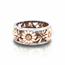 Women's Elegant Sunflower Dragonfly Hollow Finger Ring Band Jewelry Healthy Gift