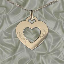 ♥ ♥ Schöner Herzanhänger , Inkl. Gravur, Silber 925, , Namenskette, Initiale ♥ ♥