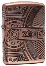 Zippo 29523 Antique Copper Armor Gears 360 Degree Multi Cut Lighter