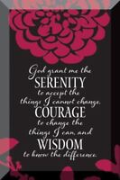 NEW Dexsa Serenity Prayer Beveled Glass Plaque with Easel DX7081