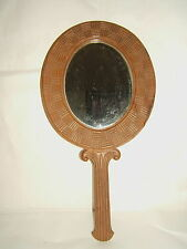 Large Mirror Ice Walnut Hand or Wall