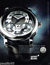 PUBLICITE ADVERTISING 076  2010  Mont Blanc  montre MB R200